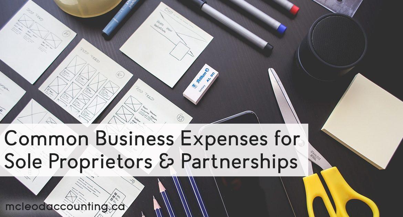 Common Business Expenses for Sole Proprietors & Partnerships